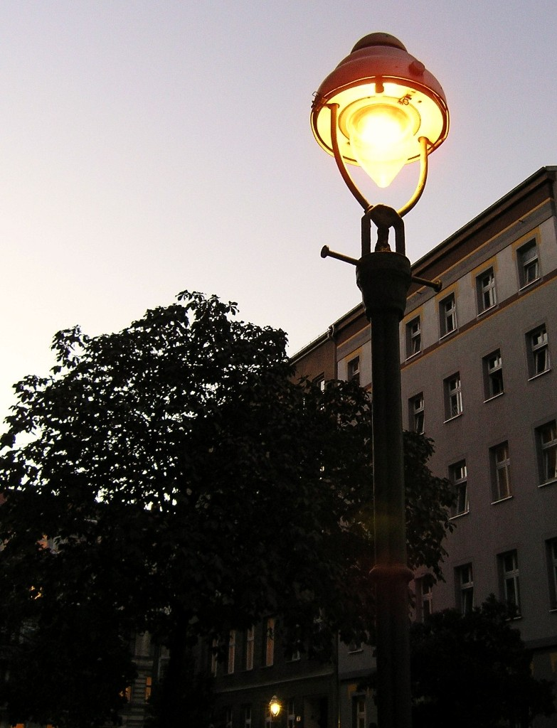 Gaslicht in der Fürbringerstraße Gas lamp in Fürbringerstraße