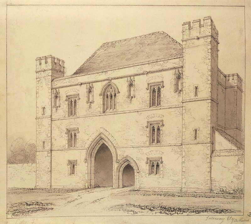 John Chessell Buckler: Ely Porta (1810; British Library)