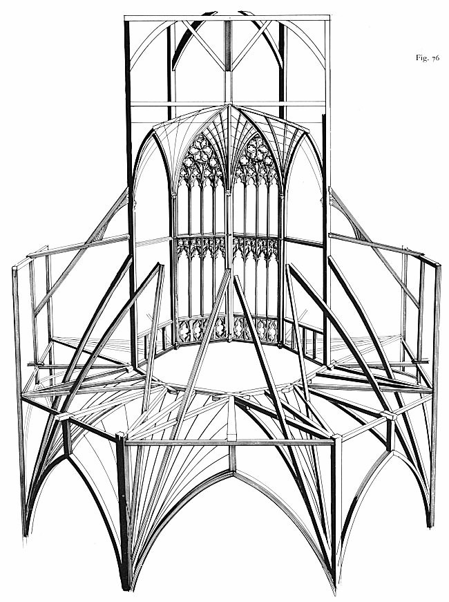 The Ely octagon.  (C.A. Hewett, English Cathedral Carpentry, London, 1974.  Courtesy of ariadne.org)