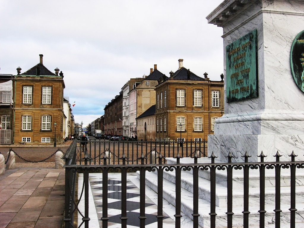 Kopenhagen: Amalienborg Slotsplads (Amaliegade)