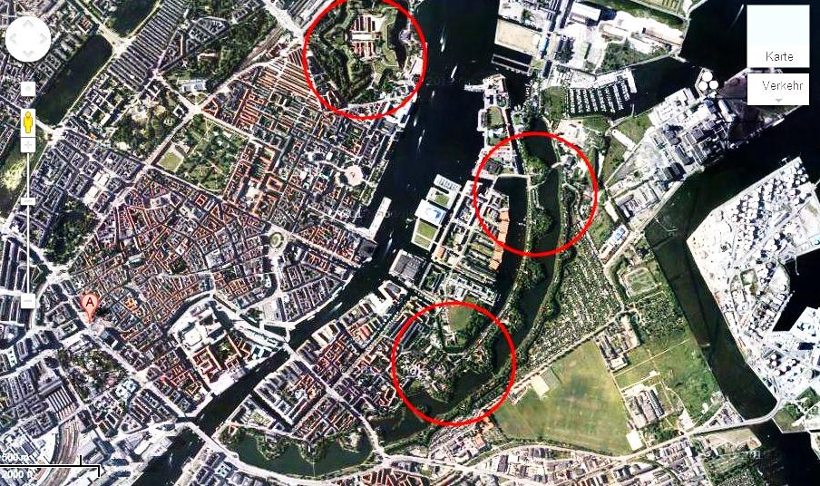 Kopenhagen: Befestigunsanlagen / Fortifications