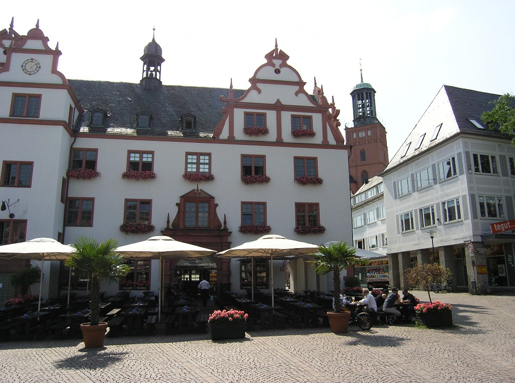 Darmstadt: Altes Rathaus und Stadtkirche Old Town Hall and parish church