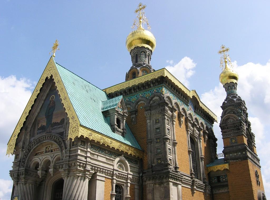 Darmstadt, Mathildenhöhe: Russische Kapelle