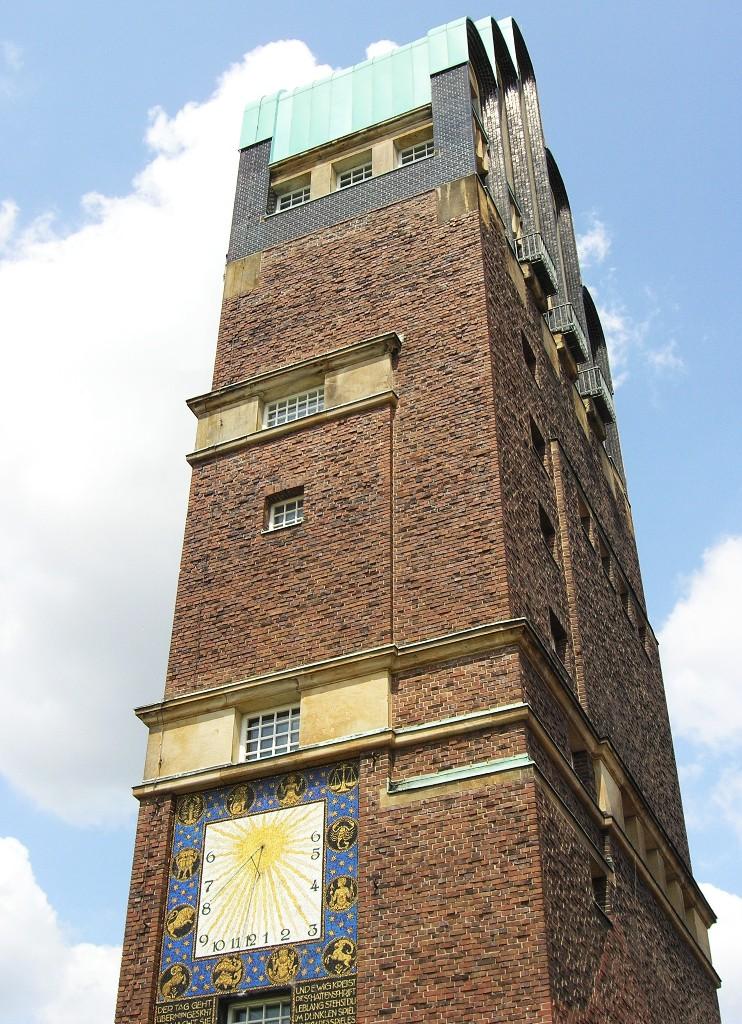 Darmstadt, Mathildenhöhe: Hochzeitsturm - Wedding Tower (1908; Joseph Maria Olbrich)