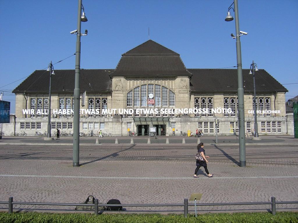 Darmstadt: Hauptbahnhof - Main railway station (1907-12; Friedrich Pützer)