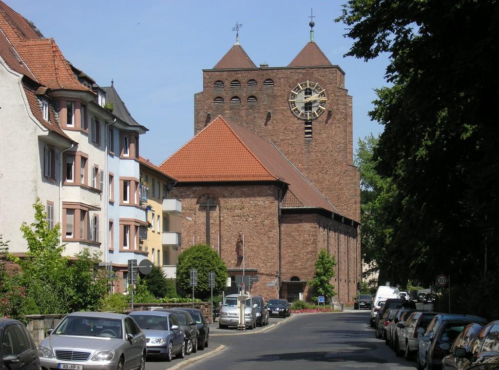 Aschaffenburg: Herz-Jesu-Kirche (1928/29; Albert Bloßlet)