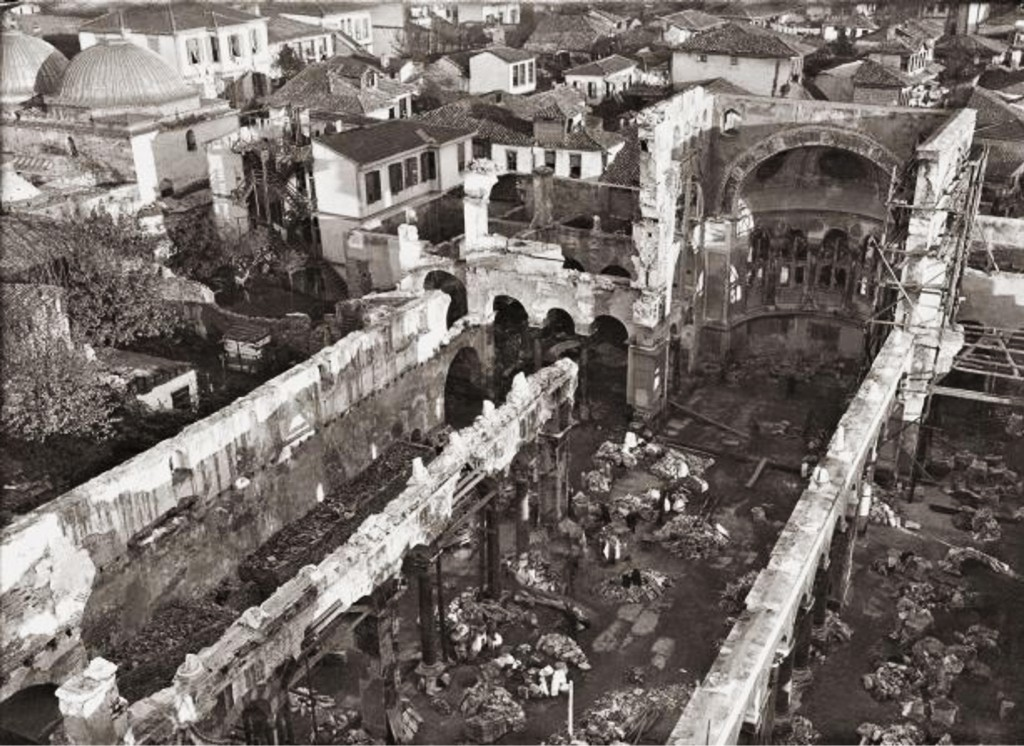 Thessaloníkē: Dēmḗtrios-Basilika nach 1917